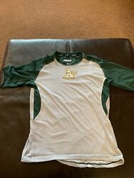 Oakland Aandrsquos Athletics Nike Pro Combat Game Used Shirt Xl Fitted 35