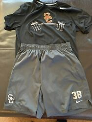 Usc Trojans Nike Football Shirt Shorts Large Team Issued 38 Conditioning Weight