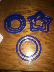 Wilton NEW Plastic Cookie Cutters Set of 8 Nesting Shapes Themed Free Ship $6.00