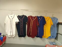 Lot Of 200 Pcs New Letrell Adult Baseball Shirt Asst Colors And Sizes Nos Nwot