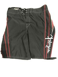 Tony Hawk Board Shorts Bathing Suit 34 Waist Navy Blue And Red
