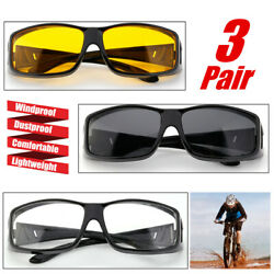 3Pcs Motorcycle Biker Bicycle Riding Protective Glasses Sports Goggles Windproof $9.28