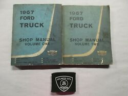 1967 Ford Truck Service Shop Repair Manuals Volume 1 And 2 Only