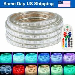 Waterproof Rgb 20-50ft 5050 Smd Led Strip Rope Light Led Lighting With Remote