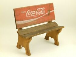 Vintage Enjoy Coca Cola Coke Advertising Doll Toy Bench Reclaimed Wood Crate