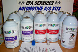 12 Can Combo Rerigerant+oil+stop Leak For R12 Systems+adapter Fitting 1995-older