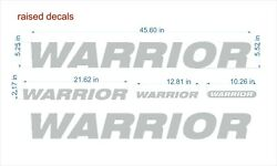 Warrior Boat Emblem 45 Chrome + Free Fast Delivery Dhl Express - Raised Decals