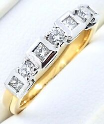 18k Diamond Set Ring_750 Yellow/white Gold_with Retail Valuation Certificate