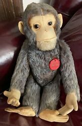 Vintage Schuco Mohair Tricky Yes/no Monkey Made In Us Zone Germany 13 Standing