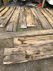 Oak Wood Waney Boards Job Lot Clearance Old Air Dried With Knots Splits Resin