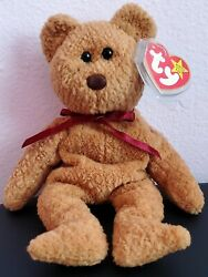 Ty Beanie Baby Curly Bear Retired With Many Tag Errors Rare Collectable Mint