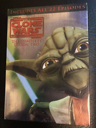 Star Wars The Clone Wars - The Complete Season Two Dvd, 2011, 4-disc Set New