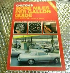 1980 Vintage Chilton Manual More Miles Per Gallon Guide 2nd Ed Ronald Weiers
