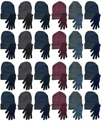 Yacht And Smith 48 Pack Wholesale Warm Thermal Winter Cold Resistant Gloves Unisex