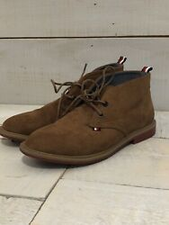 Tommy Hilfiger Boys Shoes Youth Size 2 Brown Suede Michael Chukka EUC $20.99