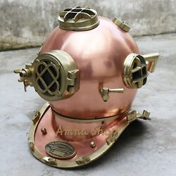 Diving Divers Iron Helmet Solid Copper amp; Brass Finish Maritime Antique