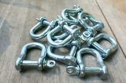 20. Chain Shackle Clevis Bow Ring 1/4 X2in Tall1.5 Inch Wide Chrome