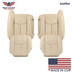 2003 2004 2005 2006 Chevy Tahoe Suburban Full Front Leather Seat Cover Tan