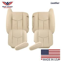 2003 To 2006 Chevy Tahoe Suburban Full Front Package Leather Seat Cover Tan