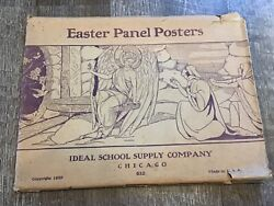 1929 Ideal School Supply Company Chicago Easter Panel Posters 632 Iop