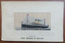 Empress Of Britain Canadian Pacific Stevengraph - Woven In Silk Card C1910