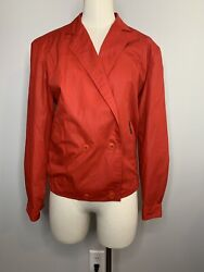 Vintage Members Only Womens Jacket Red Size 10 80andrsquos Rare Euro Craft