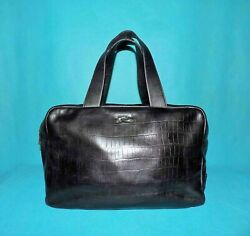 Bag BIMBA & LOLA Black Leather Worn Hand Format A4 $60.50
