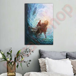 Christian Framed Canvas The Hand Of God Wall Home Decor Poster Art Free Shipping