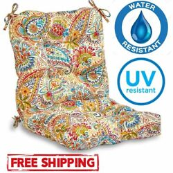Outdoor Patio Seat Chair Cushions Set Pad Water Uv Resistant Dining Garden