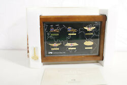 New Cathay Pacific Badge Collection 1946-99 Flight Attendant Uniform Pin And Case