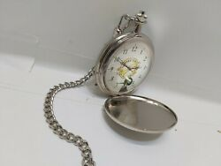 Hendricks Gin Advertising Collectible Stainless Steel Carved Design Pocket Watch