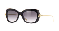 Cartier Women Sunglasses CT0215S-001 Black  Grey Gradient Mirrored Lenses