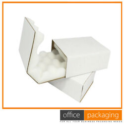 Heavy Duty Shell And Slide White Foam Lined Cushion Postal Boxes 14x11x2
