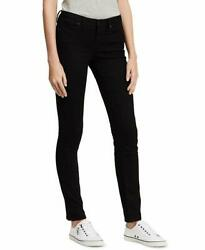 Calvin Klein Women's Black Size 6 Stretch Mid-Rise Skinny Jeans $18.99