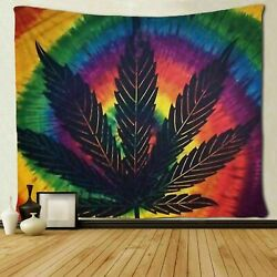 Marijuana Leaf Weed Tapestry Art Wall Hanging Bedroom Living Room Dorm Decor USA