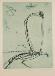 John Olsen And039lake Eyre In Floodand039 Original Limited Edition Signed Etching Pelican