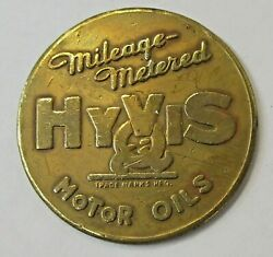 1930and039s Hyvis Motor Oil Brass Coin Token Medal Automobile