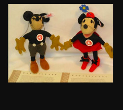 Steiff Japan Limited Mickey Mouse And Minnie 1000 Limited 2007 Plush Doll Figure