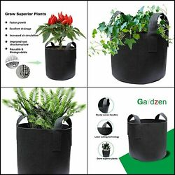 10 Pack, 1 Gallon, Grow Bags, Aeration Fabric Pots With Handles Garden Pots.