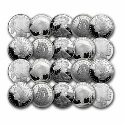 1 Oz Silver Round - Secondary Market - Lot Of 20 Rounds - .999 Fine Silver