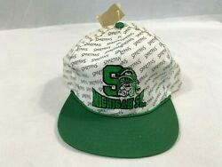 Michigan State Spartans Logo Snapback Hat With Background Nwt Vintage