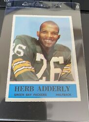 """1964 Philadelphia 71 Herb Adderly Nm-mint 8 Rc Green Bay Packers """"centered"""""""