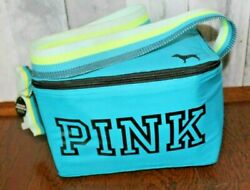 Victoria Secret PINK Turquoise Blue Cooler Lunch Bag Foam Puppy Dog $22.99