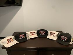 Lot Of 9 Chicago Bulls Championship Hat Collection 91-98 Complete The Last Dance