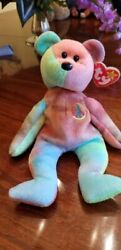 Ty Beanie Baby Peace Bear - Rare Original 1996 - New With Tags