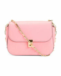 Nwt Valentino Made In Italy Pink Rockstud Leather Saddle Bag 1895 Sold Out