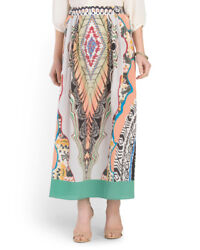 Rare Nwt Etro Made In Italy Silk Printed Maxi Skirt Size 42 Retail Value 1295