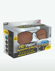 HD Vision Special Ops Aviator Polarized UV400 Protection Sunglasses Seen on TV $14.99