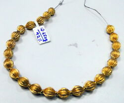 Vintage 22 K Solid Gold Ethic Beads Handmade 23 Pcs 7 Mm