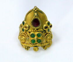 Vintage Antique 22 K Solid Gold Ring Tribal Jewelry
